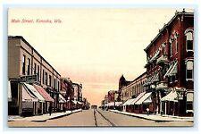 Main Street Kenosha Wisconsin WI Postcard 1914 Acmegraph Co. Unused