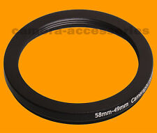 58mm a Retencion 49mm 58-49 Stepping Step Down filtro anillo adaptador 58-49mm 58mm-49mm