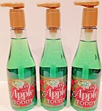 3 BATH & BODY WORKS WINE BOTTLE SPICED APPLE TODDY HAND SOAP 9.5oz NEW!