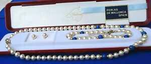 Perlas de Mallorca, Original. Kette-Armband- Ohrstecker