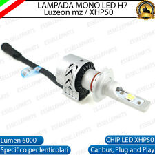 LAMPADA H7 6500K CANBUS XENON 6000 LM LUMEN MONO LED MONOLED X LENTICOLARE MOTO