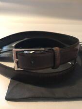 NWT $380 Ermenegildo Zegna Premium Genuine Leather Belt Brown Size 42/110 Italy