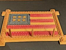 Midwest Of Cannon Falls Tramp Art Wooden Flag vhtf