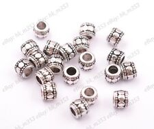 Tibetan Silver Charm TUBE Spacer Beads for Bracklet Necklace K3031