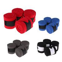 4 Pack Leg Polo Bandages Wraps Soft Fleece Horse Equestrian Leg Polo Bandage