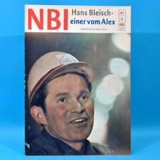 DDR NBI 21 1968 Täve Schur Alextunnel Artisten Bonn Mexiko DAMW Die Schmiere S