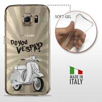 Samsung Galaxy S6 TPU CASE COVER GEL PROTETTIVA TRASPARENTE VINTAGE Do You Vespa
