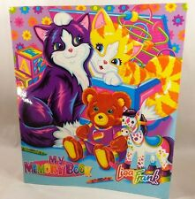 Vintage Lisa Frank My Memory Book 3 Ring Binder Kittens Rocking Horse Teddy Bear