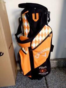 Rare Golf Bag TITOS HAND MADE VODKA Standup Black/White/Orange 12 inch New Box