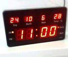 LED Numérique Horloge murale avec Date Température Kiosque 200x110x40mm jh2158