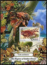 Maldives 2017 Crabs And Lobsters Souvenir Sheet Mint Nh