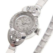 Nivada Vintage Ladies Watch 14KT Gold Very Good Condition Diamond Bezel