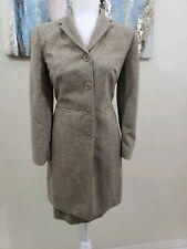 ANN TAYLOR Women 2PC Brown Skirt Suit Mismatched Sizes Jacket  Size 4 Skirt 6P