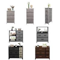 Fabric Dresser Chest of Drawers Storage Organizer Bins Cabinet Bedroom Furniture