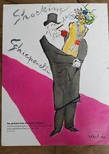 1953 shocking de Schiaparelli mannequin perfume  man smoking tuxedo Vertes ad