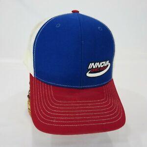 Innova Mesh Cap Hat Disc Golf Blue Red Truckers
