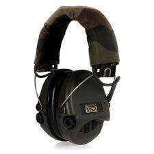 Sordin Supreme Pro X Gehörschutz mit Stoffkissen und AUX-Eingang, Camo-Kopfband