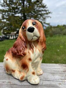 Vintage Black /& White COCKER SPANIEL Dogs Napco Napcoware Planter Mother Puppy 8953  Figurine Japan Great Detail Porcelain