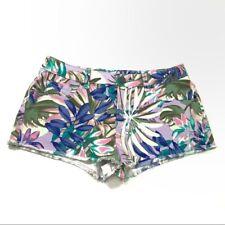 Victorias Secret Womens Size 2 Floral Boyfriend Denim Shorts