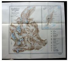 1927 Humphreys - RUWENZORI - Mountain Ascents - COLOR MAP - Photos - 6