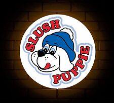 SLUSH PUPPY BADGE SIGN LED LIGHT BOX MAN CAVE COFFEE DRINK GAMES ROOM BOYS GIFT
