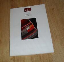 Rover Brochure 1991 220 GTI 16v 216 416 420 GSI Sterling 827 SI Montego Clubman