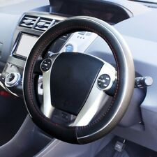 Toyota Prius Steering Wheel Cover Hybrid Leather Oval Black