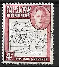 FALKLAND IS.DEP. SGG13 1946 4d BLACK & CLARET FINE USED