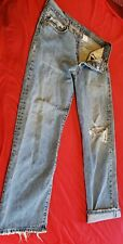 New listing Vintage 90's Levis 501e Jeans, distressed. Button fly.