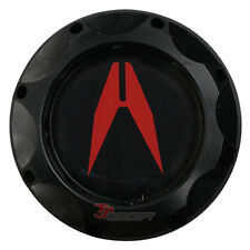 Black Engine Oil Filler Fuel Cap Tank Cover Aluminum Acura Emblem For Acura