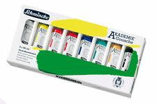 Schmincke AKADEMIE® Gouache Grundsortiment 8 x 60 ml Kartonset Malkasten
