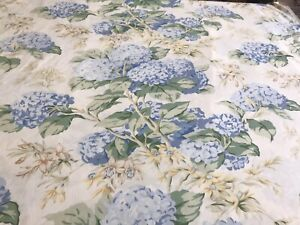 Laura Ashley 'Bluebell Hydrangea' On Pantry White Cotton Floral 56x51cm - Lovely