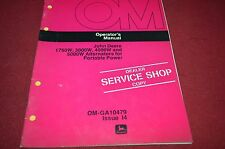 John Deere 1750W 300W 4000W 5000W Alternator Generator Operator's Manual DCPA4