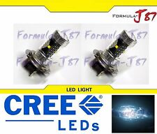 CREE LED 30W H7 White 6000K Two Bulbs Head Light Low Beam Replacement Show Use