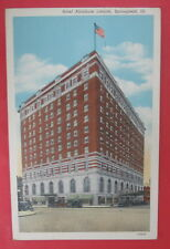 VTG HOTEL ABRAHAM LINCOLN POSTCARD-SPRINGFIELD ILLINOIS
