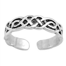 Celtic Toe Ring Sterling Silver 925 Plain Best Choice Jewelry Face Height 4 mm