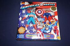 MARVEL AMERICAN HEROES CAPTAIN AMERICA BUCKY 2 PACK TOYBIZ 1998 ACTION FIGURES