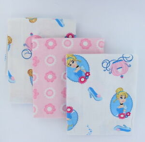 Princess Cinderella 3-Pack Receiving Blanket by Disney Baby