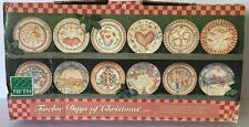 222 Fifth Twelve Days Of Christmas Salad Cake Plates ALL 12 Plates are Included
