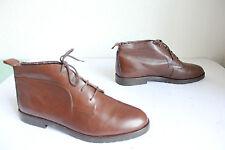 Vintage Elegante Winter Boots Schnürstiefeletten Echtleder Braun Eu:39