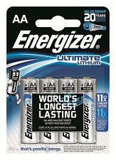 4 pile batterie STILO AA ENERGIZER LITIO 1.5V ULTIMATE LITHIUM SCADE 2036