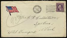 US 1918 #501 Patriotic Flag Cover WWI Camp Lewis WA