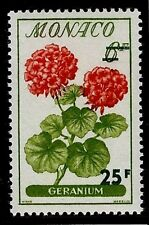 MONACO #442 Flowers Geranium MNH VF OG 25F 1959