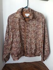 Lady Bear long sleeve zip up jacket-Brown/tan patterned-small-Sill-lined