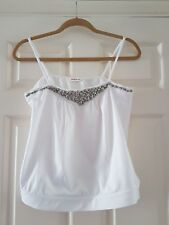 "Ladies vest top size 12, pit to pit 15"" white by pink soda"