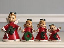 4 Vintage Christmas NOEL Angel Bells ~ Japan