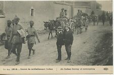CARTE POSTALE / POSTCARD / CONVOI DE RAVITAILLEMENT INDIEN  /  INDIAN ARMY