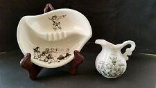 Hand Painted Ceramics-Bering Sea Original Signed-Panneene;Pitcher-Robert Mayokok