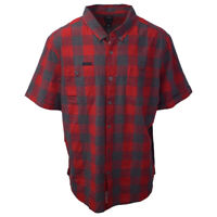 Harley-Davidson Red Charcoal Checkered Plaid S/S woven S05