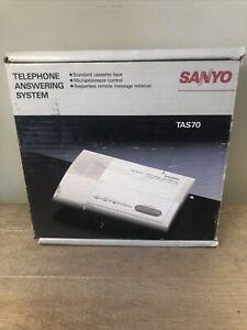 NOS Sanyo Answering Machine TAS 70 Standard Cassette Beeperless